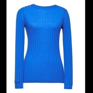 Washable Merino Fitted Sweater - Sapphire Blue